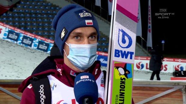 Piotr Żyła. Źródło: Youtube TVP Sport