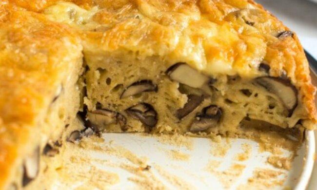 Pikantne i rozgrzewające ciasto z pieczarkami i cebulką. Pyszności zarówno na obiad i na świąteczny stół