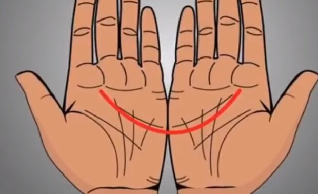 Łączące się linie na dłoniach/YouTube @Health &Fitness