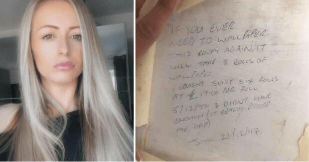Kobieta rozpoczęła remont domu i znalazła pod tapetą wiadomość od poprzedniego właściciela, która pochodziła sprzed 20 lat