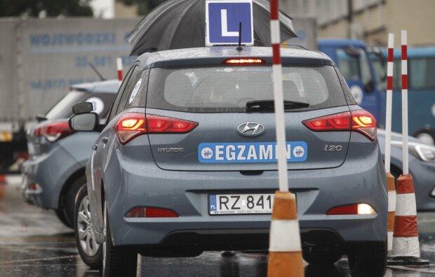 Egzamin na prawo jazdy, screen: motofakty.pl